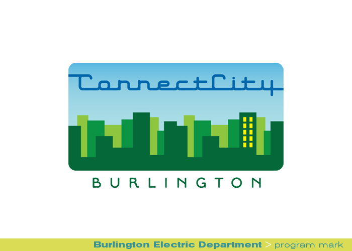 branding identity_Burlington Electric Department Connect City_program mark