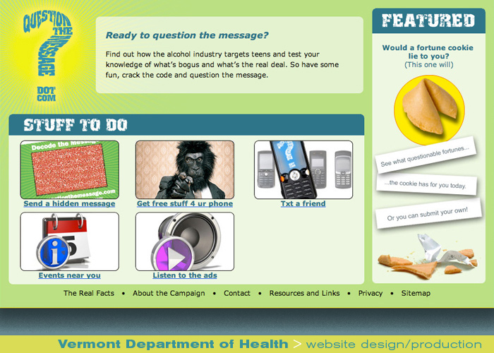 Digital Web Online_Vermont Department of Health_website design and production