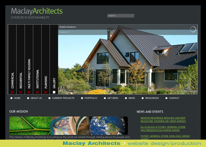 Digital Web Online_Maclay Architects_website design and production