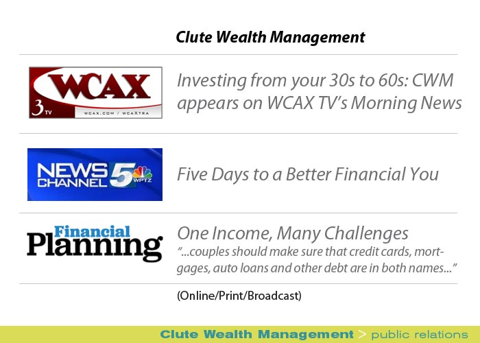 Marketing Partners Public Relations image: Clute Wealth Management