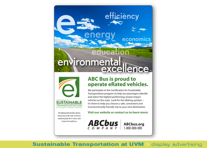 Print_UVM Sustainable Transportation_print ads and collateral