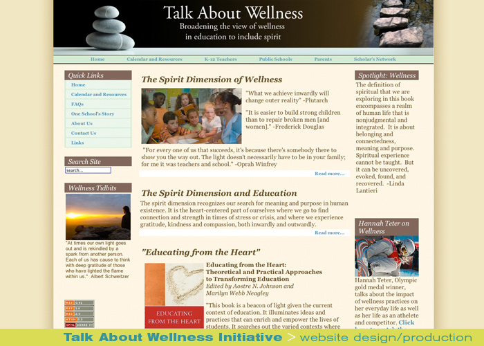 Digital Web Online_Talk About Wellness Initiative_website design and production