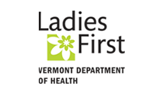 Ladies First logo, Vt Dept. of Health: Government agency clients Marketing Partners