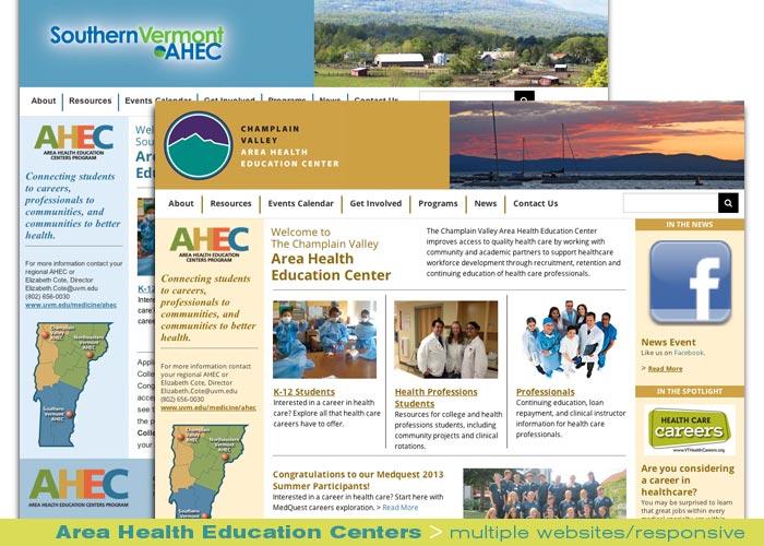 Digital Web Online_Area Health Education Centers_multiple responsive website design and production