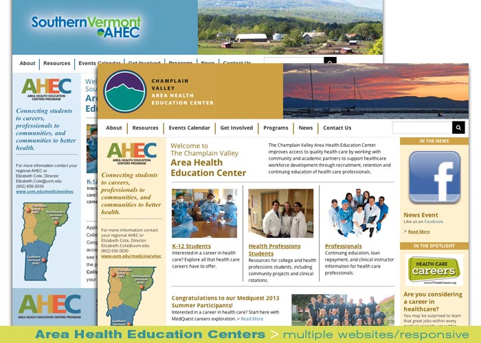Digital Web Online_Area Health Education Centers_multiple responsive website design and production