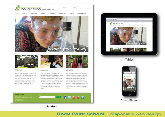 Digital Web Online_Rock Point School_responsive web design