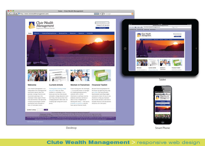 Digital Web Online_Clute Wealth Management_responsive web design