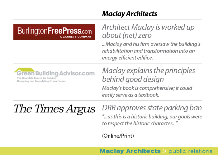 Marketing Partners Public Relations image: Maclay Architects