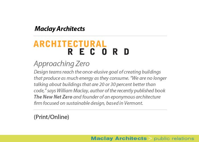 Marketing Partners Public Relations image: Maclay Architects