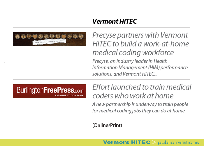 Marketing Partners Public Relations image: Vermont HITEC