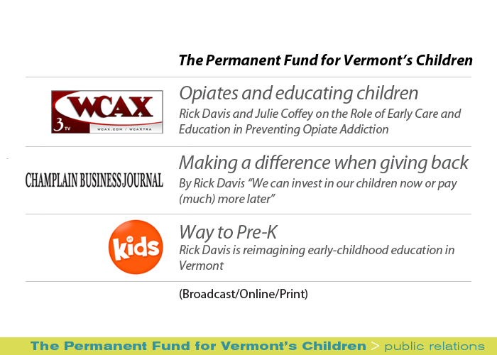 Marketing Partners Public Relations image: The Permanent Fund for Vermont's Children