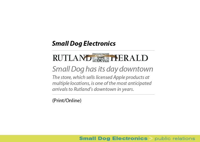 Marketing Partners Public Relations image: Small Dog Electronics