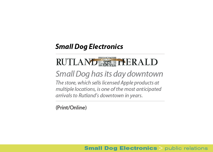 Marketing Partners Public Relations image: Small Dog Electronics