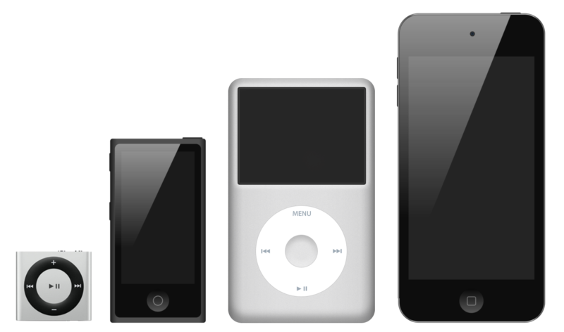 iPod family photo via Wikipedia