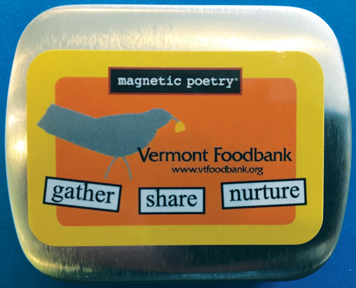 magnetic-poetry-tin from the Vermont Food Bank