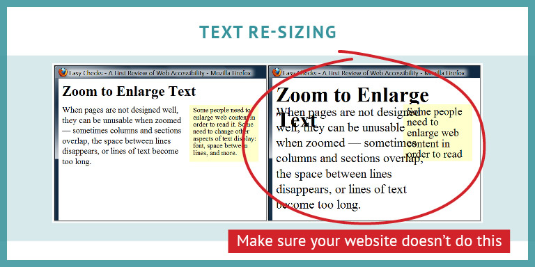 example of text re-sizing that is not legible