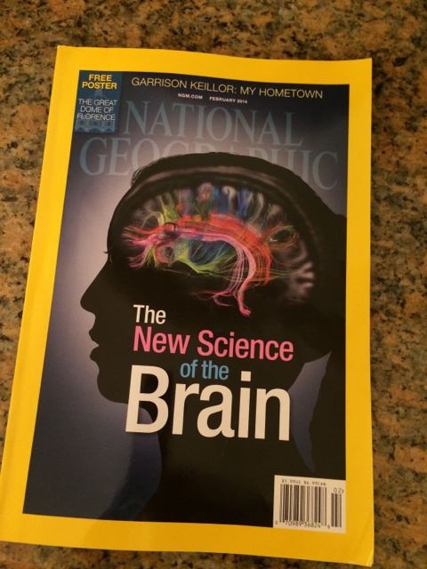 Nationall Geographic magazine cover for New Brain Science issue