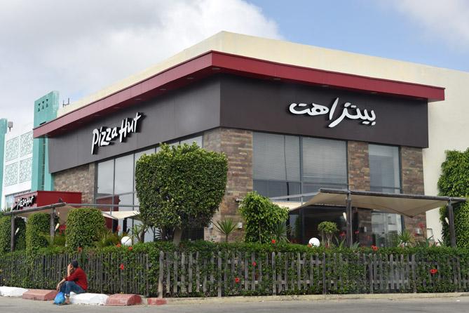 empty Pizza Hut during Ramadan