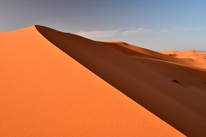 The desert sands of Morocco