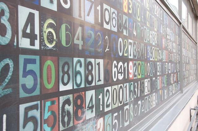 Large board full of numbers