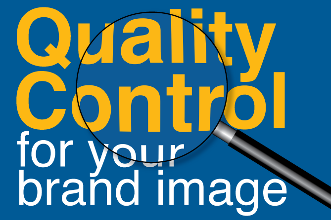 Quality control for your brand image with magnifying glass