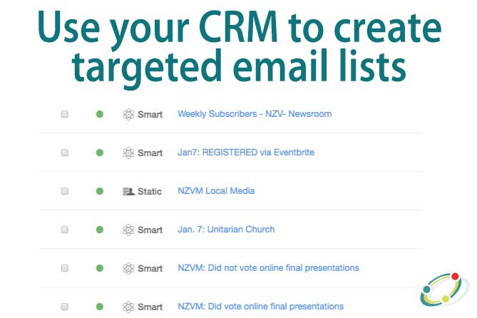 use your CRM to create targeted email lists
