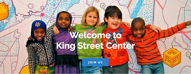 King Street Center website home page main image