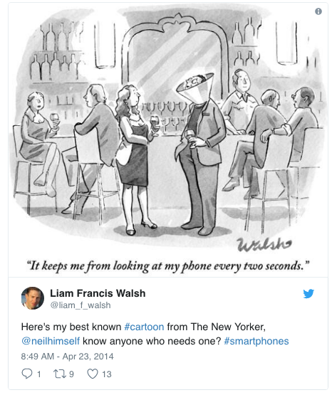Liam Francis Walsh_Twitter_cartoon_It Keeps Me from Looking at my phone