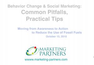 "Word graphic saying ""Behavior Change and Social Marketing: Common Pitfalls, Practical Tips"""