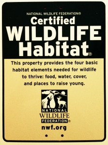 Reframing with NWF habitat sign-223x300