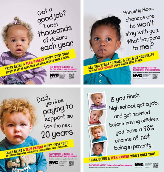 Four teen pregnancy posters - Flickr
