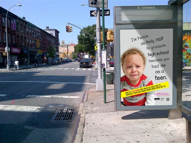 Teen pregnancy poster in NYC - Flickr