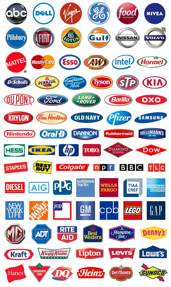 several examples of enclosure logos