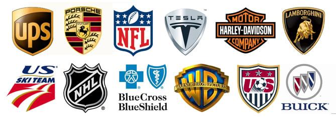 Modern shield logos
