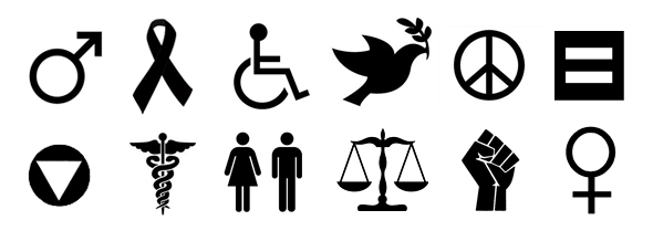 International symbols of Advocacy, Human rights, Health, and Activism