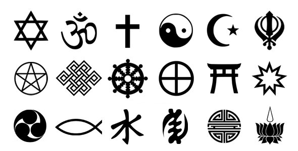 Symbols of spiritual concepts, ideologies, religions and philosophies, representing our highest aspirations and human ideals