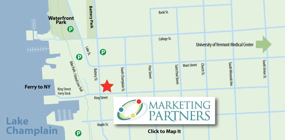 Marketing Partners Burlington VT map