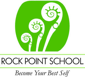 Rock Point School Logo + tagline vertical