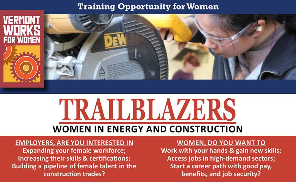 Trailblazers flyer promoting training program