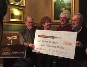 net zero vermont montpelier winners at statehouse press conference