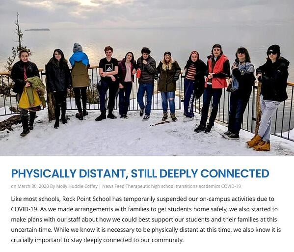 physically distant, still deeply connected blog post