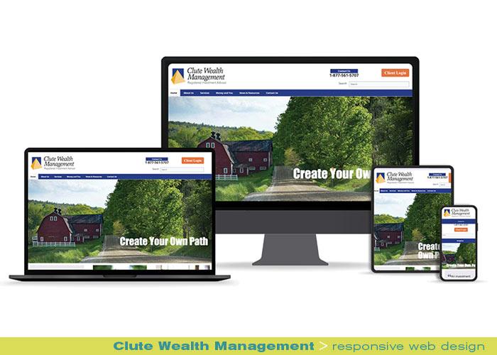 Digital web online - Clute Wealth Management responsive website