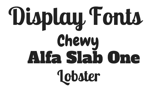 display fonts display font is a family of fonts that are usually