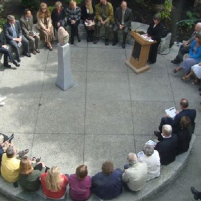 Garden-Dedication-Circle Vt Center for Crime Victim Services