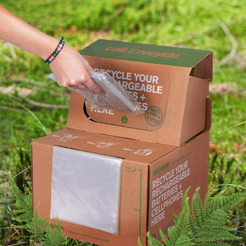 Call2Recycle box for recycling batteries