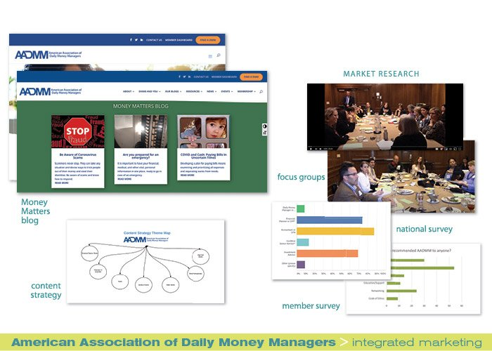 American Association of Daily Money Managers integrated marketing portfolio