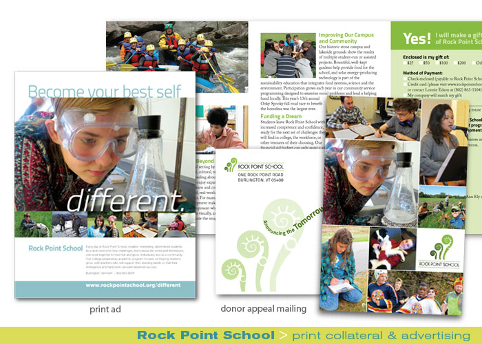 Print_Rock Point School_print ad and direct mail