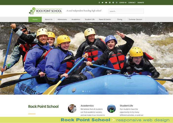 Digital Web Onlines_Rock Point School_responsive website