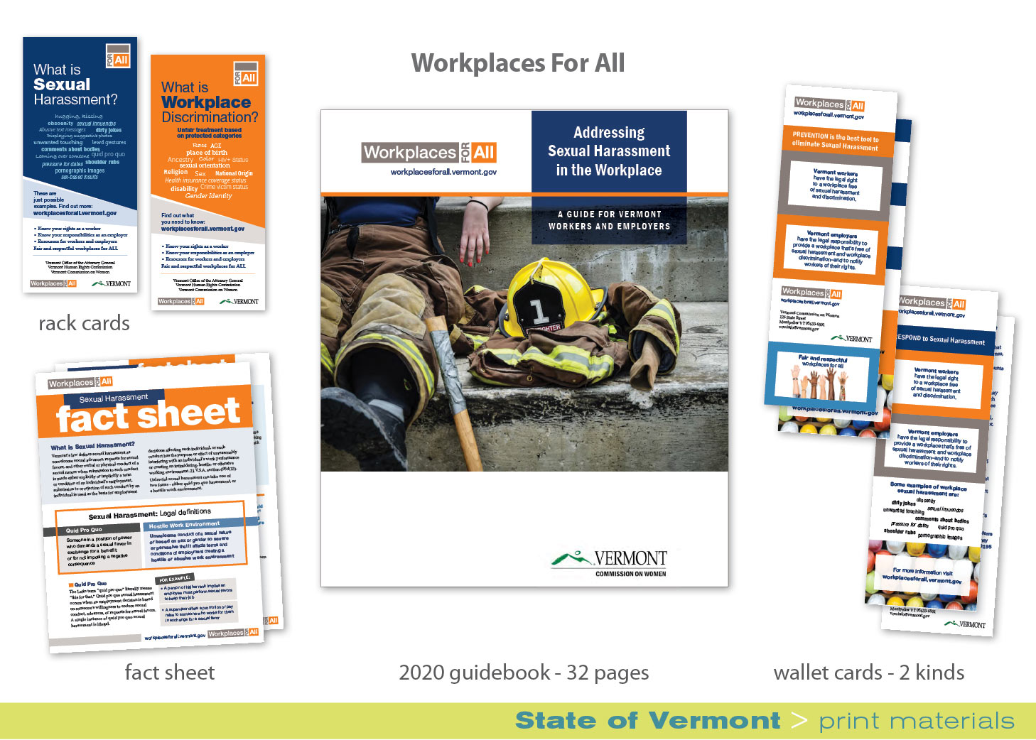 Print_Workplaces for All materials_rack cards_fact sheet_guidebook_wallet cards