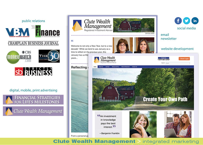 Clute Wealth Management integrated marketing portfolio